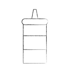 sauce bottle isolated icon vector image vector image