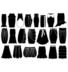Set of different skirts vector image