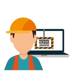 site under construction icon vector image vector image