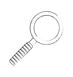 Sketch search find mind icon vector