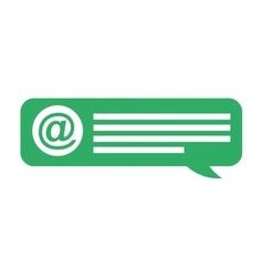 speech bubble social media vector image
