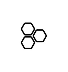 thin line honeycomb icon vector image
