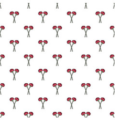 Two flowers on grave pattern seamless vector