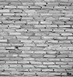 White grunge brick wall background vector