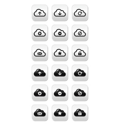 Cloud buttons set for web vector