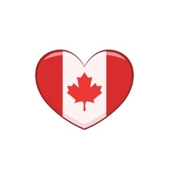 Hear Shaped Flag As A National Canadian Culture vector image