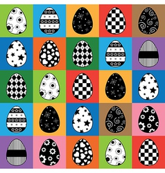 Easter egg pattern vector