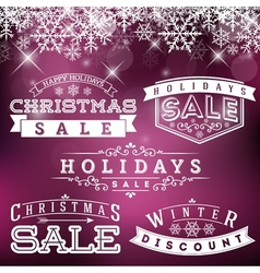 Holiday Sale Labels vector image