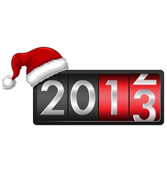 2013 with Santa Cap vector image