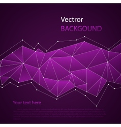Triangles colored abstract background vector image