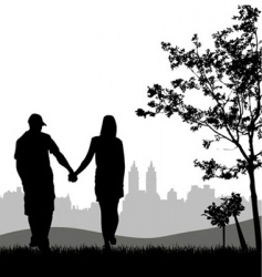 couple outdoors vector image