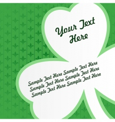 clover card vector