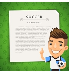 Green background with soccer player vector