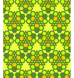 Green salad orange abstract geometric seamless vector