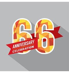 66th years anniversary celebration design vector