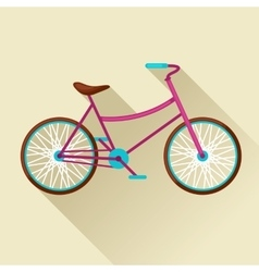 Bicycle icon in flat style image for web banners vector