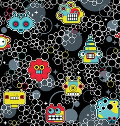 Robot and bubbles vector image