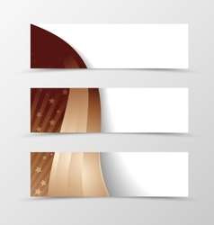 Set of banner wavy design vector