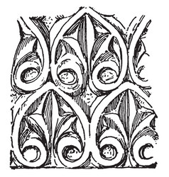 Anthemion ismenias the theban vintage engraving vector
