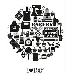Bakery background vector