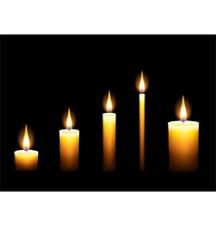candles dark background vector image vector image