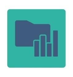 Charts Folder icon vector image