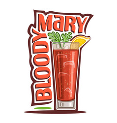 Cocktail bloody mary vector
