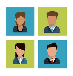 colorful background of faceless profiles of vector image