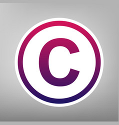 Copyright sign purple vector