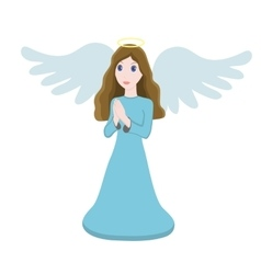 Cute angel character vector