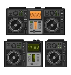 Dj sound mixer set flat design style vector