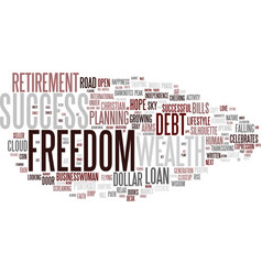 Financial freedom word cloud concept vector