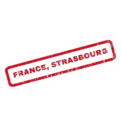 France Strasbourg Rubber Stamp vector image vector image