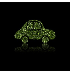 Green Car Icon Pollution Concept vector image