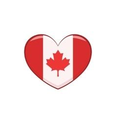 Hear shaped flag as a national canadian culture vector