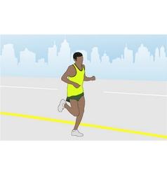 Marathon runner vector