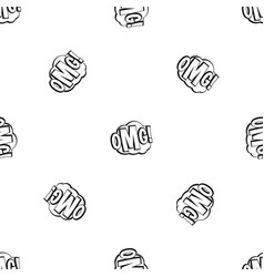 Omg comic text speech bubble pattern seamless vector