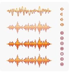 Orange Equalizer template vector image