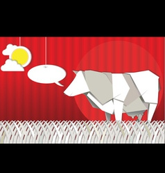 origami cow vector image