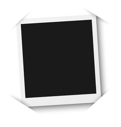 photo frame mockup isolated on a white background vector image vector image