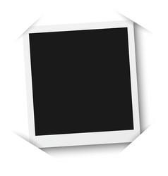 photo frame mockup isolated on a white background vector image