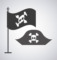 pirate emblem vector image
