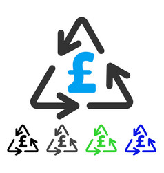 recycling pound cost flat icon vector image