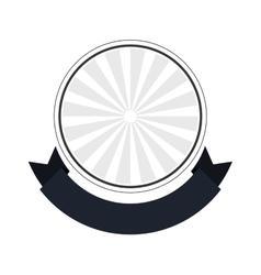 Seal stamp ribbon label design vector