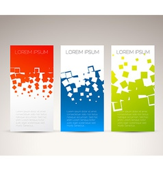 Simple colorful vertical banners vector image vector image