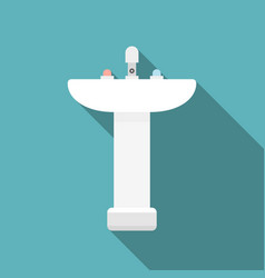 Sink flat design with long shadow vector