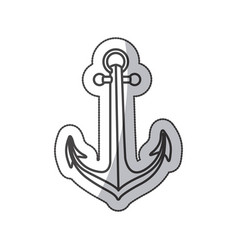 Sticker sketch contour anchor icon design vector