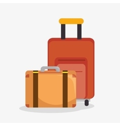 suitcases travel isolated icon vector image