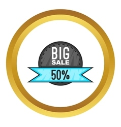 Super sale with 50 discount icon vector image vector image
