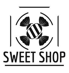 Sweet shop logo simple black style vector